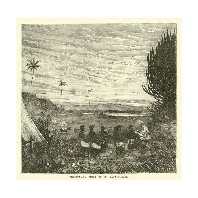 Missionary Meeting in Kaffirland--Giclee Print