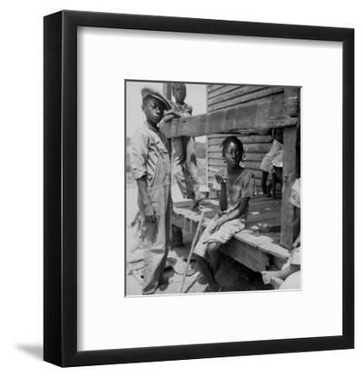 Mississippi Delta Negro Children-Dorothea Lange-Framed Art Print