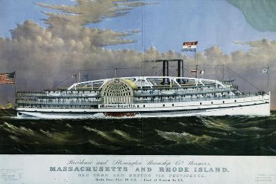 Mississippi Paddle Wheel Steamer, 1887, United States, 19th Century--Giclee Print