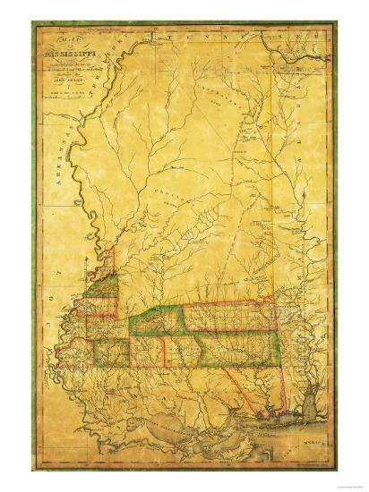 Mississippi - Panoramic Map-Lantern Press-Art Print