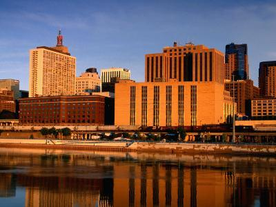 Mississippi River and City Skyline, St. Paul, United States of America-Richard Cummins-Photographic Print