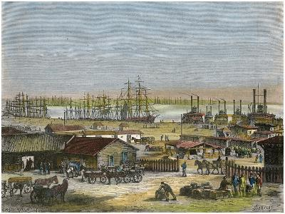 Mississippi River, New Orleans, Louisiana, USA, C1880-Barbant-Giclee Print
