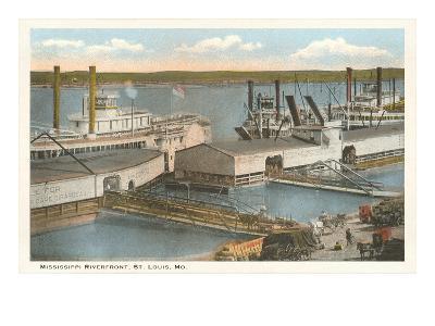 Mississippi Riverfront, St. Louis, Missouri--Art Print