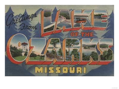 Missouri - Lake of the Ozarks-Lantern Press-Art Print
