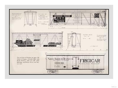 Missouri Pacific, Frigicar--Art Print