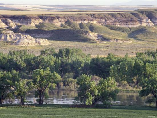 Missouri River at Coalbanks Landing, a Lewis and Clark Campsite in Montana--Photographic Print