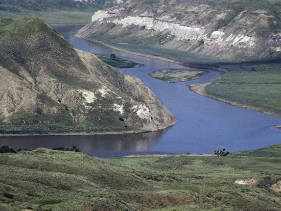 Missouri River in the White Cliffs Backcountry, Described by Lewis and Clark--Photographic Print