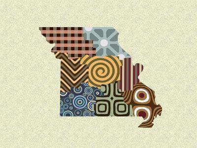 Missouri State Map-Lanre Adefioye-Giclee Print