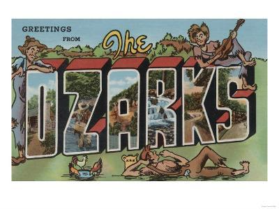 Missouri - The Ozarks-Lantern Press-Art Print