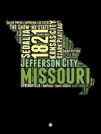 Missouri Word Cloud 1-NaxArt-Art Print