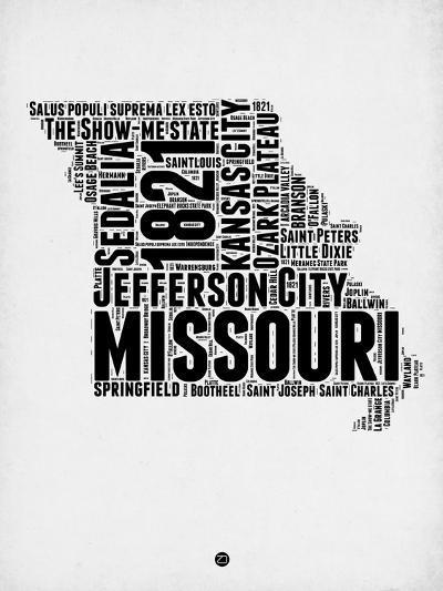 Missouri Word Cloud 2-NaxArt-Art Print