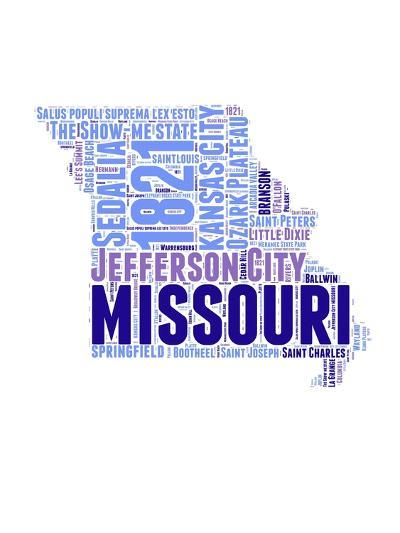 Missouri Word Cloud Map-NaxArt-Art Print