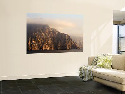 Mist Covers Jagged Peaks-Mark Daffey-Wall Mural