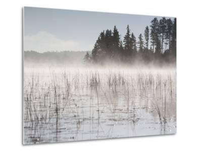 Mist Rises Off Lake of the Woods at Dawn-Gabby Salazar-Metal Print