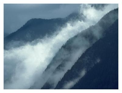 Mist rising in the Cascade Mountains near Hope, British Columbia, Canada-Tim Fitzharris-Art Print