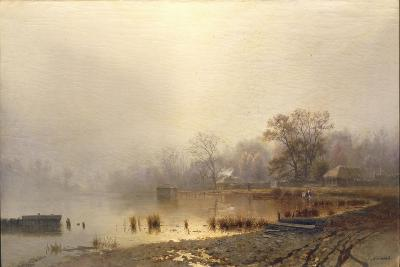 Mist. the Red Pond in Moscow in Autumn, 1871-Lev Lyvovich Kamenev-Giclee Print