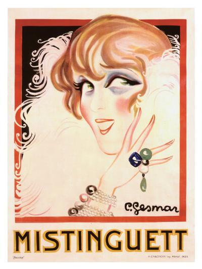 Mistinguett-Charles Gesmar-Giclee Print