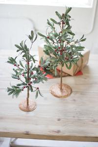 Mistletoe Tree Pair