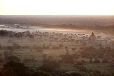 Mists from the Nearby Irrawaddy River Floating across Bagan (Pagan), Myanmar (Burma)-Annie Owen-Photographic Print