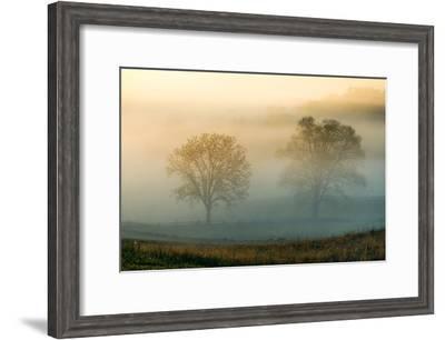 Misty Battlefield, Gettysburg National Military Park, Pennsylvania, USA-Mira-Framed Photographic Print