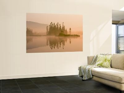 Misty Dawn on East Inlet, Pittsburg, New Hampshire, USA-Jerry & Marcy Monkman-Wall Mural