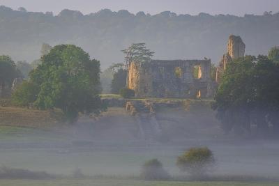 Misty Dawn over Sherborne Castle, Sherborne, Dorset, England-Brian Jannsen-Photographic Print