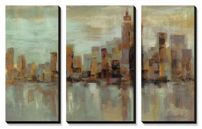 Misty Day in Manhattan-Silvia Vassileva-Canvas Art Set
