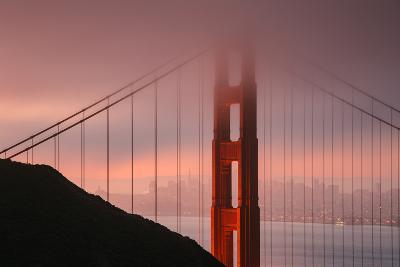 Misty Golden Gate Tower, San Francisco California-Vincent James-Photographic Print