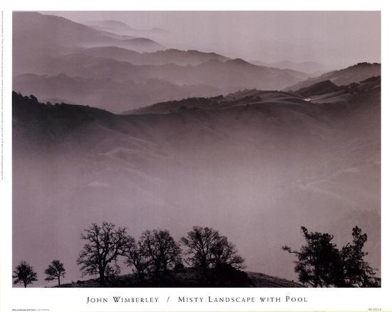 Misty Landscape With Pool-John Wimberley-Art Print