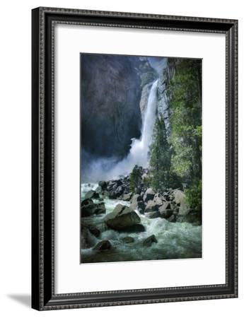 Misty Lower Yosemite Falls, California-Vincent James-Framed Photographic Print