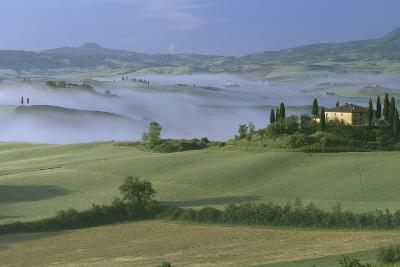 Misty Morning at the 'Belvedere', Val D' Orcia, Tuscany-Joe Cornish-Photographic Print