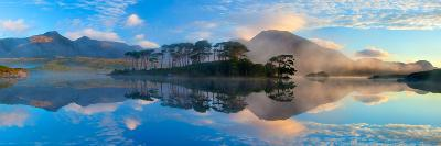 Misty Morning Reflection of the Twelve Bens in Derryclare Lough, Connemara, Co Galway, Ireland-Gareth McCormack-Photographic Print