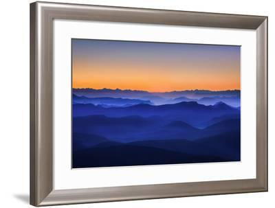 Misty Mountains-David Bouscarle-Framed Photographic Print
