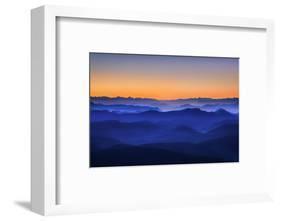 Misty Mountains-David Bouscarle-Framed Photographic Print