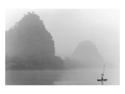 Misty River, Guilin, China--Art Print