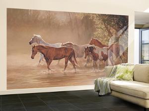 Misty River Huge Mural Art Print Poster Large