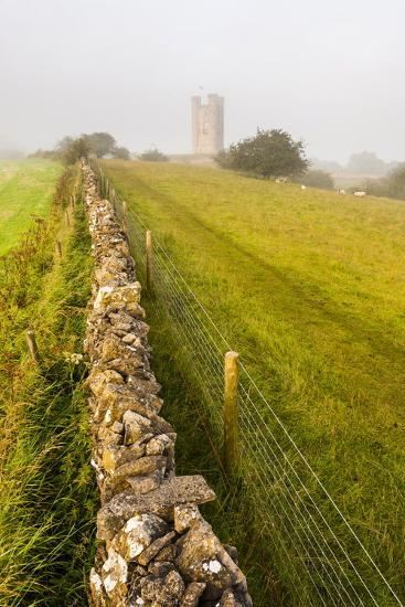 Misty Sunrise at Broadway Tower, a National Trust Property at Broadway, the Cotswolds-Matthew Williams-Ellis-Photographic Print