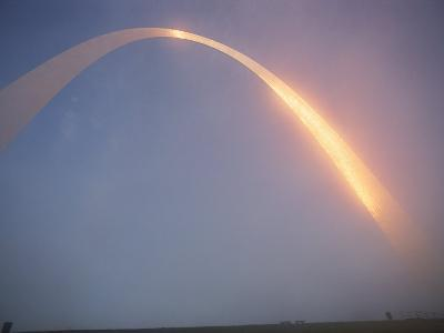 Misty View of Gateway Arch-James L^ Stanfield-Photographic Print