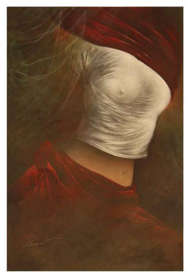 Misty Woman II-Alijan Alijanpour-Art Print