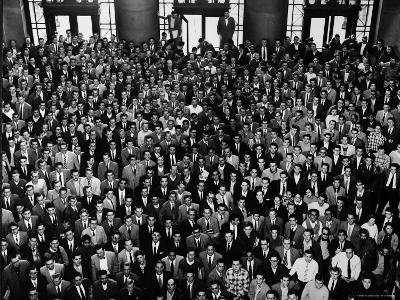 MIT Graduating Class of 1956-Gjon Mili-Photographic Print