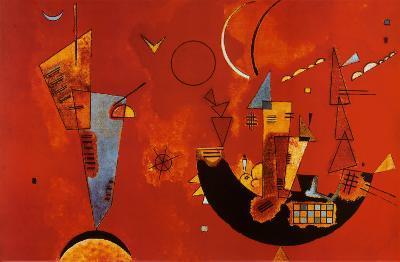 Mit Und Gegen-Wassily Kandinsky-Poster