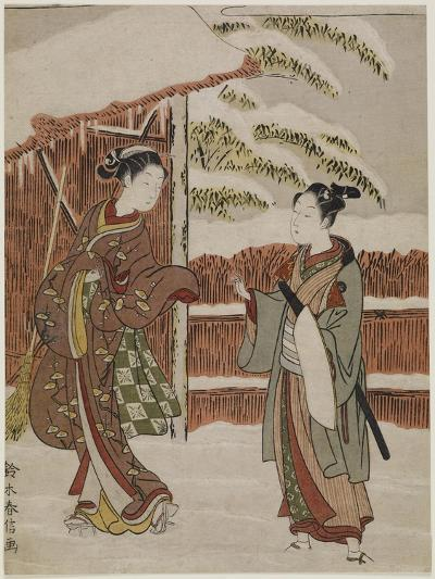 Mitate of a Scene from the Kabuki Play Women's Version of Ptted Trees, C. 1768-Suzuki Harunobu-Giclee Print