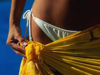 Mexican Woman with Swimwear by Mitch Diamond