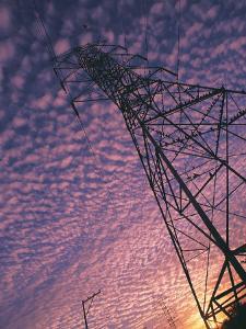 Power Line Tower by Mitch Diamond
