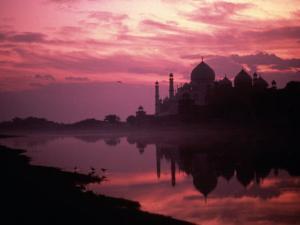 Silhouette of Taj Mahal, Agra, India by Mitch Diamond