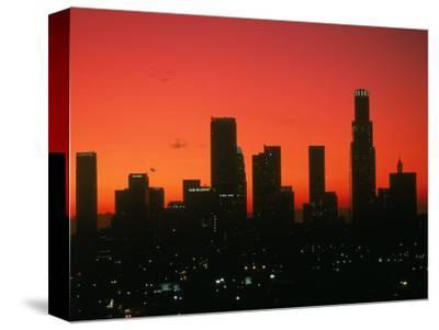 Skyline of Los Angeles at Sunset, CA