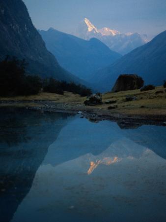 Stream by River, Cordillera Blanca, Peru