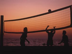 Sunset Beach Volleyball by Mitch Diamond