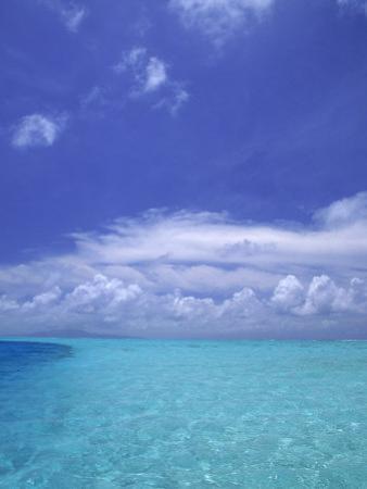 Water and Sky, Bora Bora, Pacific Islands by Mitch Diamond