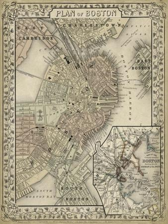 Plan of Boston by Mitchell